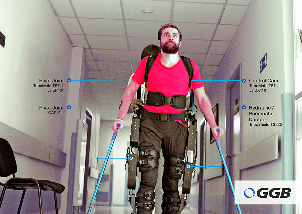 GGB tribological solutions for exoskeletons for industrial applications