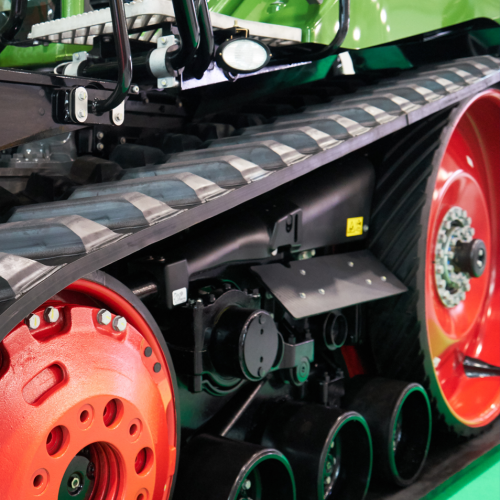 GGB SBC with HSG agricultural bushings for rubber track systems