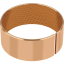 GGB MBZ-B09 solid bronze bushings with lubrication indents