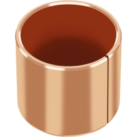 DP4-B Plain bearing for maintenance-free operations, with bronze backing