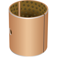 GGB DX10 metal-polymer Cylindrical bush with groove and bore for heavy duty and harsh environments