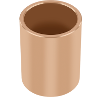 GGB-BP25 sintered bronze cylindrical bearings for maintenance-free operations