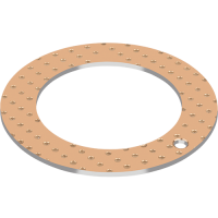 GGB SY Bimetallic bronze thrust washer with steel backing