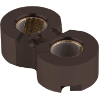 GGB Bushing block product coated with GGB Triboshield TS651 nanostructured polymer coatings